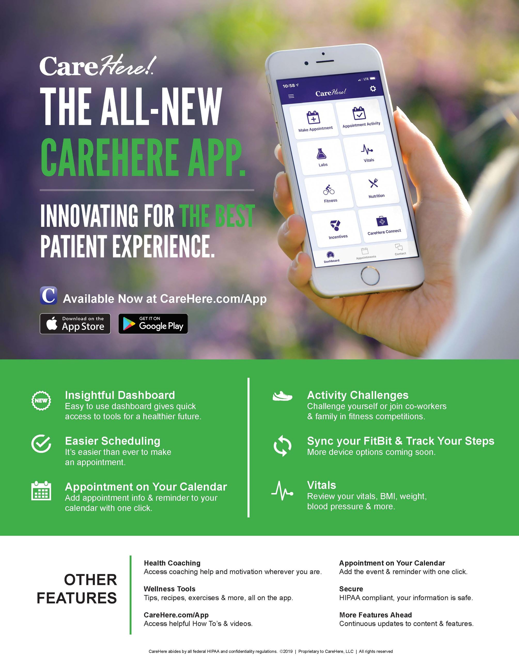 CareHere App Flyer